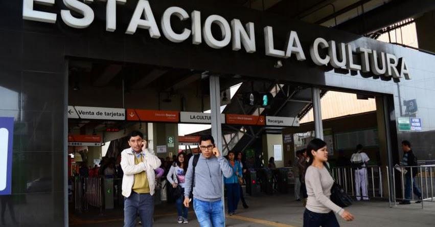 METRO DE LIMA: Estación La Cultura cerrará este Martes 12 por evento del Comité Olímpico Internacional - COI