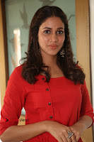 Actress Lavanya Tripathi Latest Pos in Red Dress at Radha Movie Success Meet .COM 0184.JPG