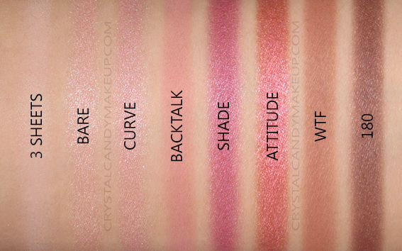Urban Decay Backtalk Eye Face Palette Review Eyeshadows Swatches