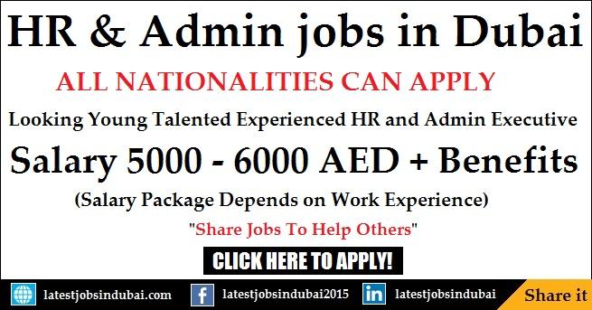 HR Recruitment and Admin jobs in Dubai