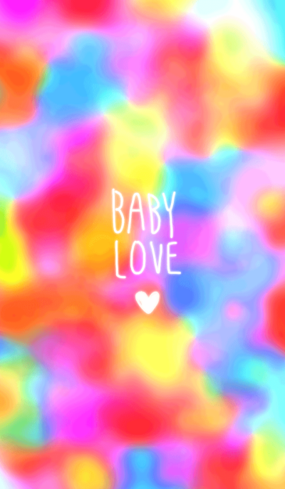 Colorful baby love