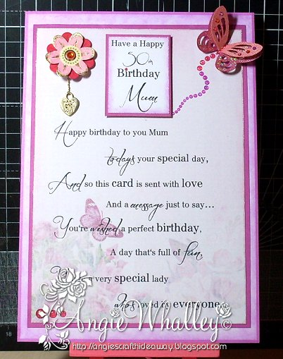 Ngies Craft Hideaway Female 50th Birthday Cards Commissioned
