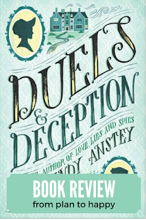 I feel like I was missing a fan to flutter in front of my face while reading this adorable YA Historical Fiction novel, with a bit of romance thrown in. In Duels and Deception (which almost sounded like a non-fiction title to me) by Cindy Anstey, we meet Miss Lydia Whitfield, who is considered much too clever for her own good in 1817 England.   #ya #historical fiction #books