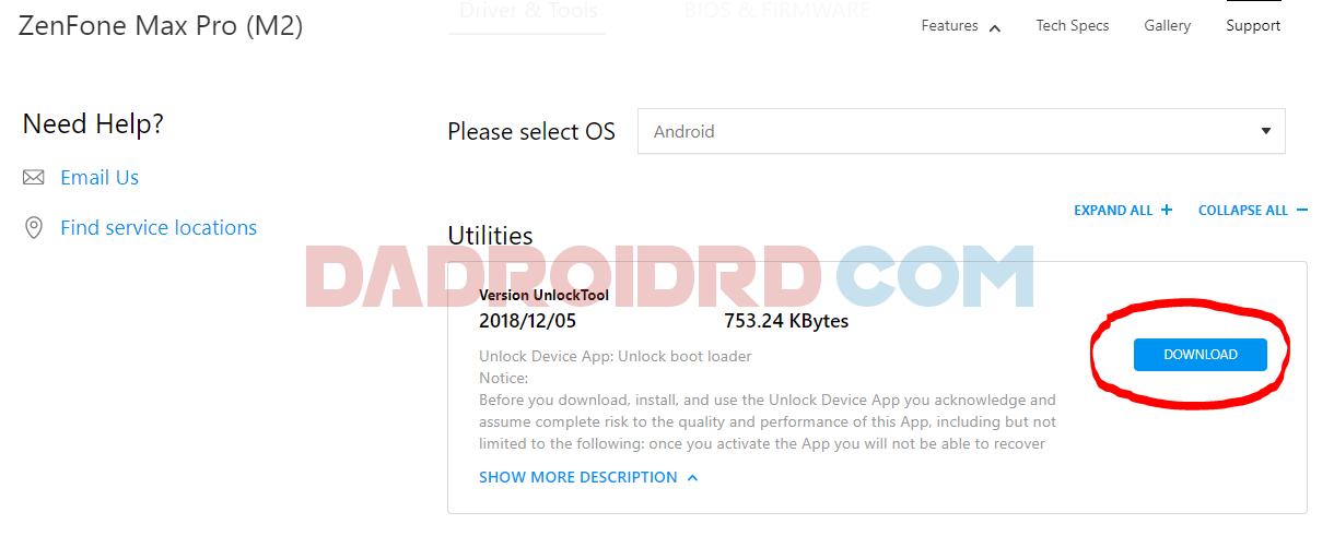 Cara Unlock Bootloader (Official) Asus Zenfone Max Pro M2