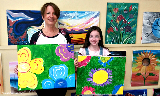 family fun, mother - daughter, painting class