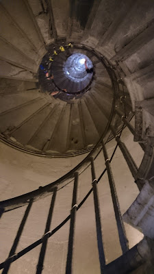 The staircase from below at the Monument, London