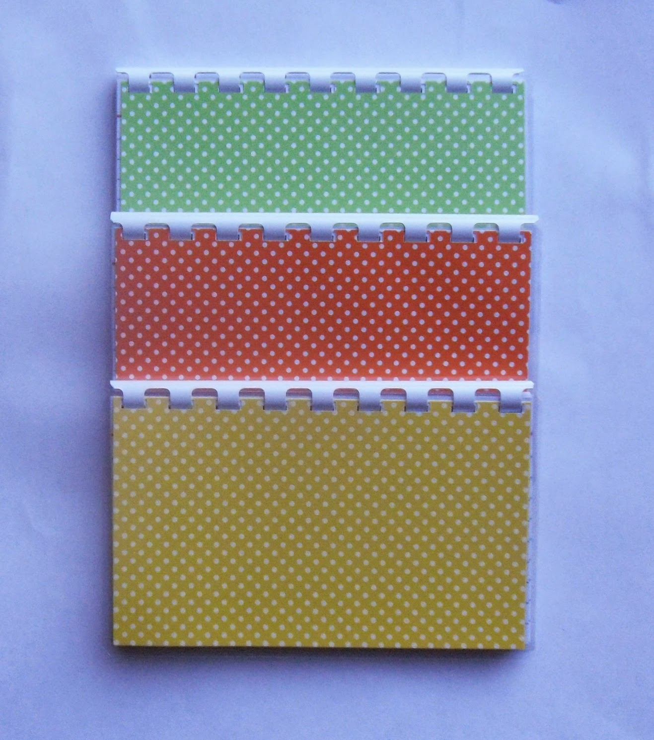 3 Handmade orange, green and yellow polka dots blank recipe books?ref=shop_home_active_1