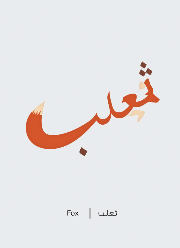 Arabic Words Illustrated Based On Their Literal Meaning - Fox - Thaealab