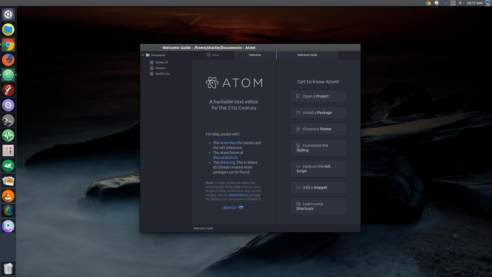 Ubuntu Alive, Explore, And Learn : Atom 1 0 5 Text Editor