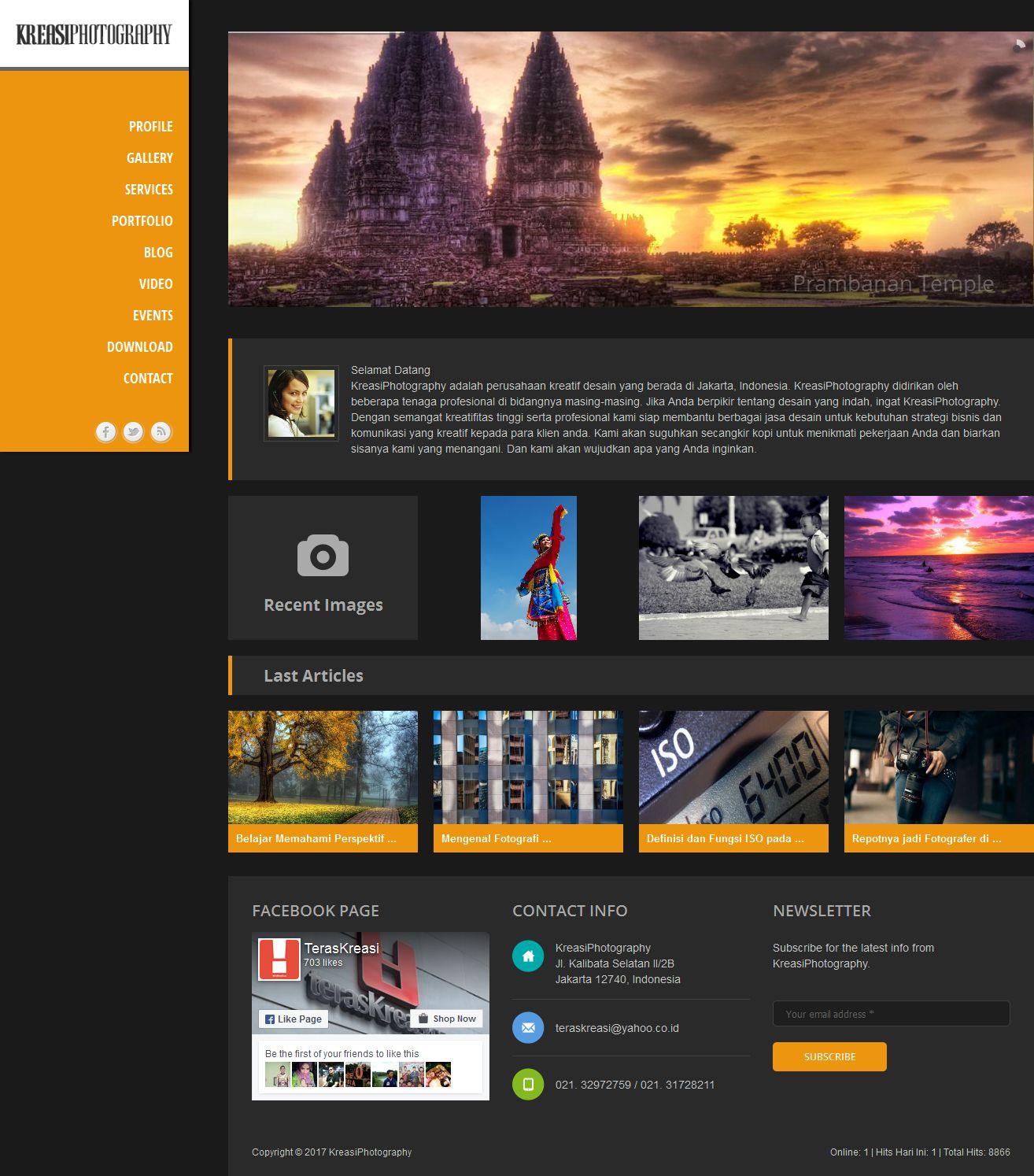 Studio Lighting Website: (Source Code) Website Company Profile Photography