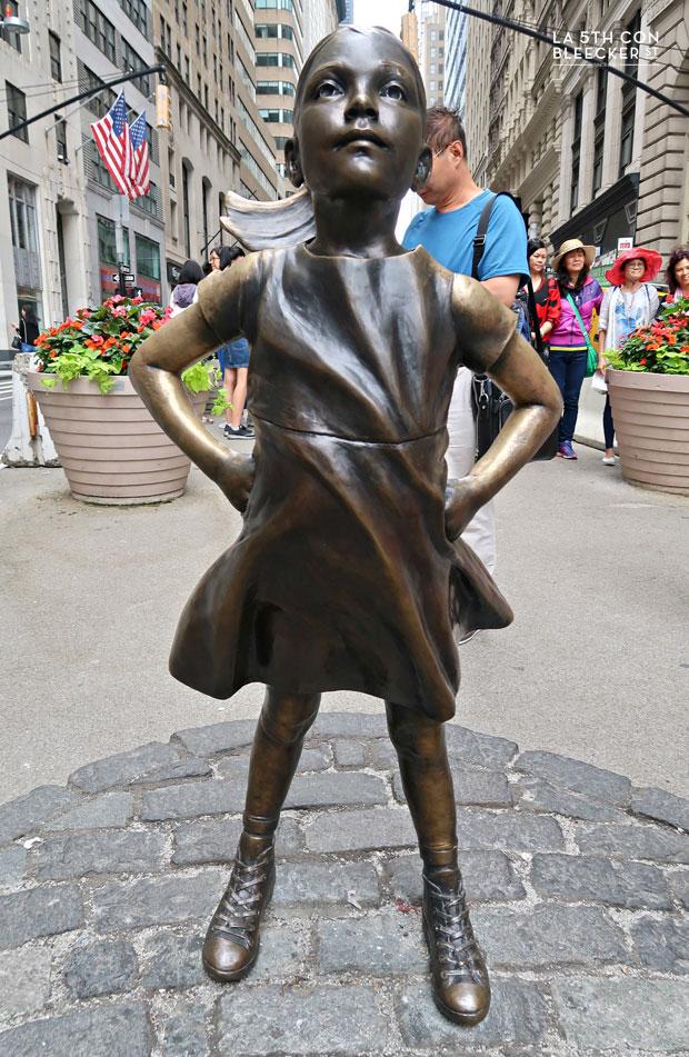 El toro de Wall Street la niña sin miedo