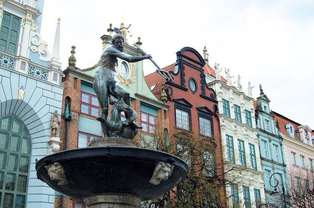 fontanna Neptuna, Neptun, Gdańsk, Polska, Poland, Trójmiasto