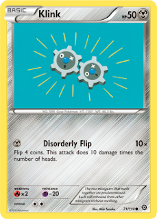 Klink Steam Siege Pokemon Card