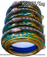 Rebana Hadrah cat batik tulis standar