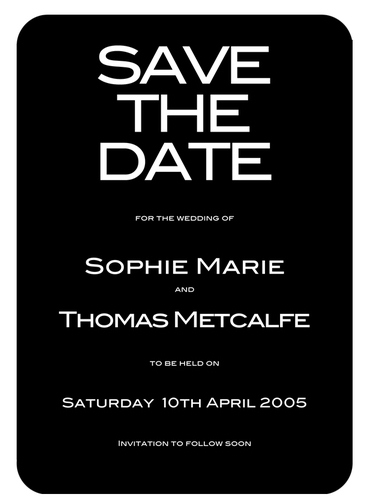 VIP Save the Date Card by Paper Themes
