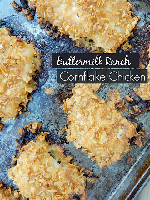 buttermilk ranch cornflake chicken (sweetandsavoryfood.com)