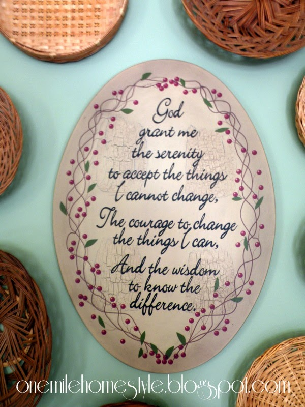 Kitchen art detail - serenity prayer