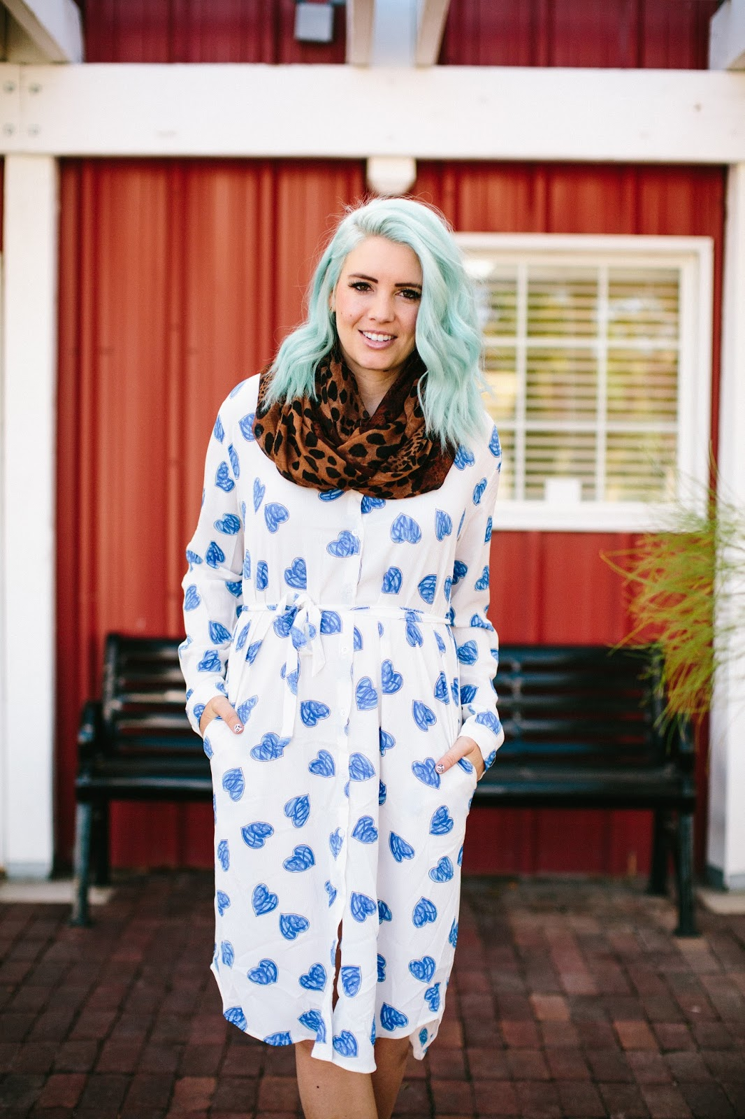 Blue Hair, Fall Outfit, Fashion Blogger