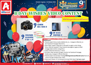 B'day Wishes Video Contest Berhadiah Kamera, Smartphone dan Voucher Belanja