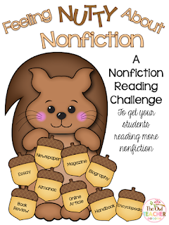 Help your students read more nonfiction and different types of nonfiction with this free reading challenge!