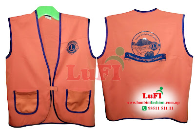 Jacket Product By LuFI For Lions Club of Myagdi Darbang, Lions Club Nepal Jacket Make, Lions Club Nepal Jacket Print and make