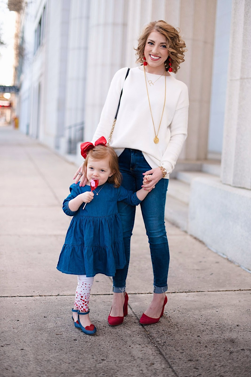 Mommy and Me Valentines Day Look - Click through for more on Something Delightful Blog