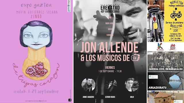 Agenda con concierto de Jon Allende y exposiciones