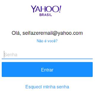 Senha para entrar no Yahoo Mail