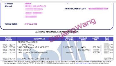 Percuma RM 500 untuk SSPN1M