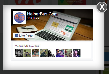 WordPress Style Facebook Popup Likebox For Blogger