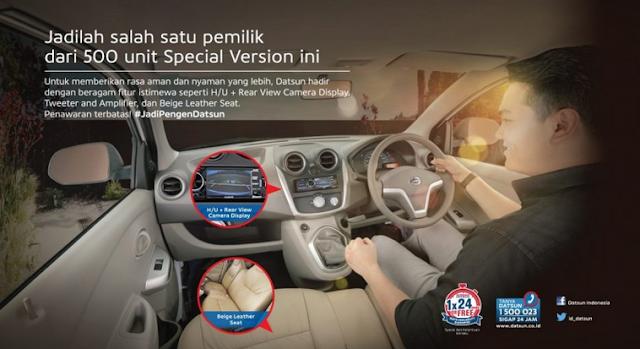 Interior Datsun GO+ Edisi Spesial Lebaran