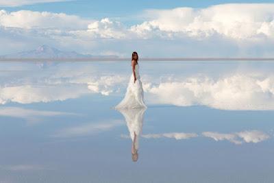 جزيرة بوليفيا والمشي بين السحاب / مناظر خلابة لإنعكاس السماء علي الصحراء