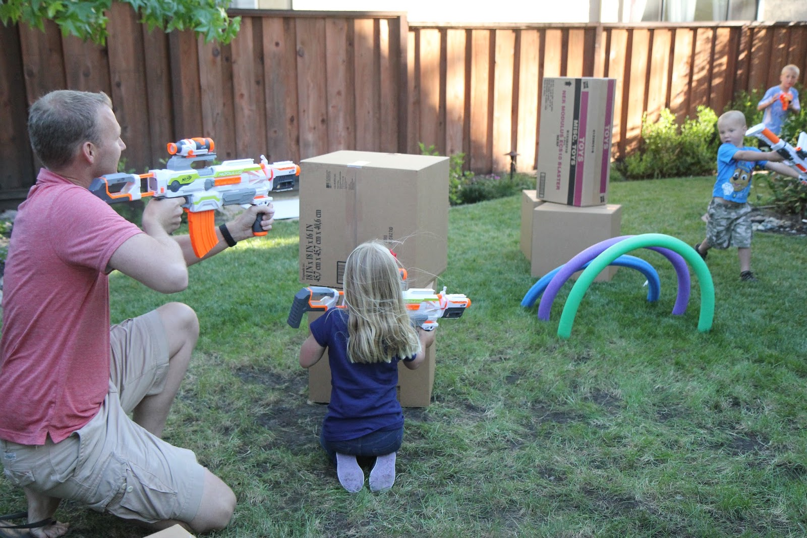toddler approved create a fantastically simple nerf family play zone