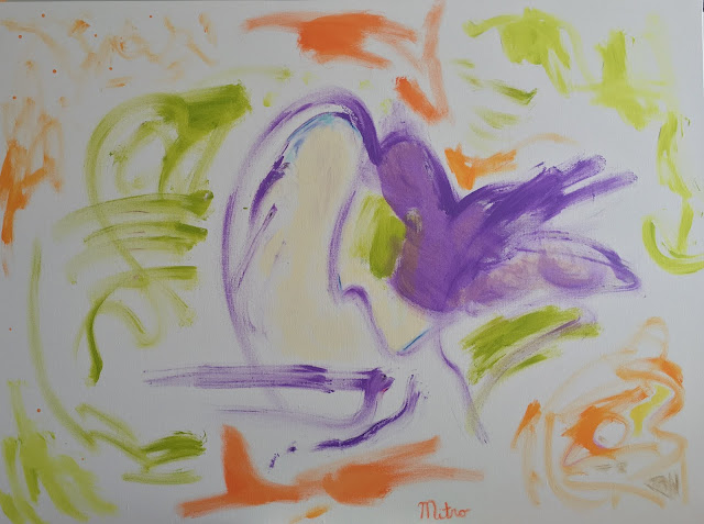 """Girl in Orange Scarf Jumping Out of Swan Cake  36"""" by 48""""  $2,000,000"""
