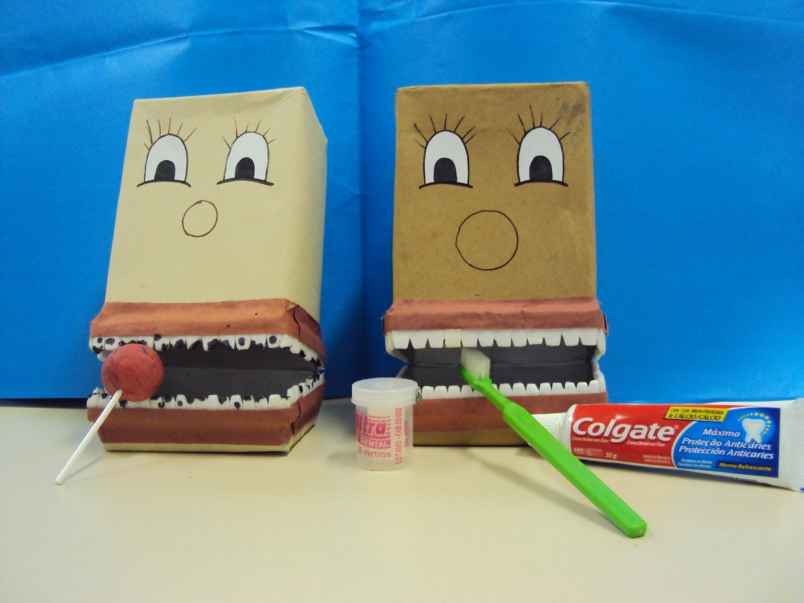 De fio dental escovando os dentes 7