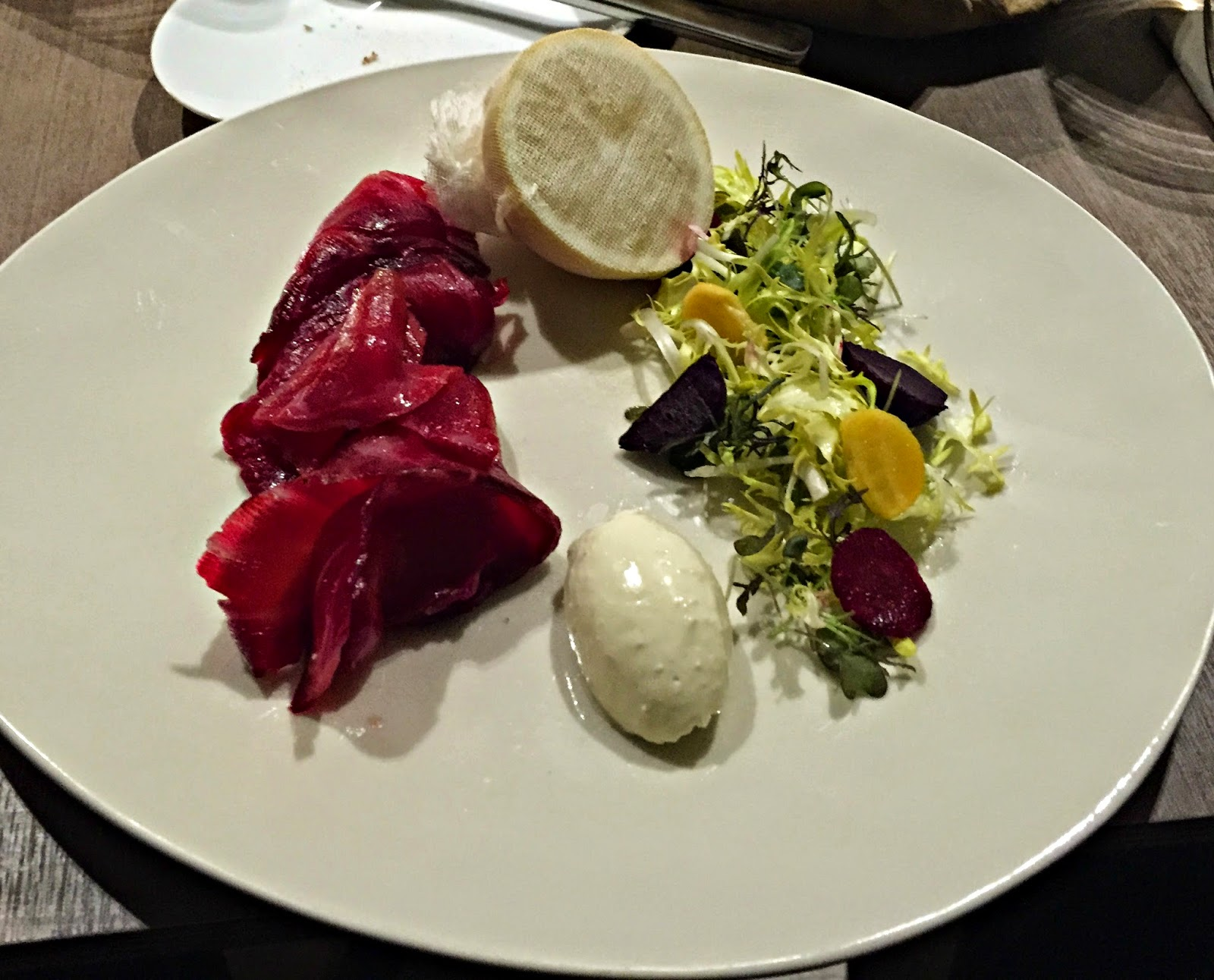 Beetroot Cured Salmon Skygarden