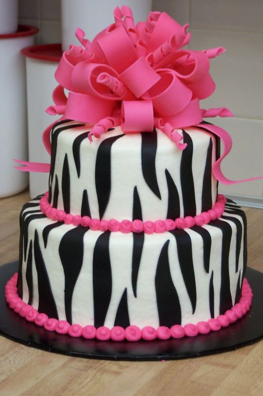 Zebra Print Birthday Cake Designs