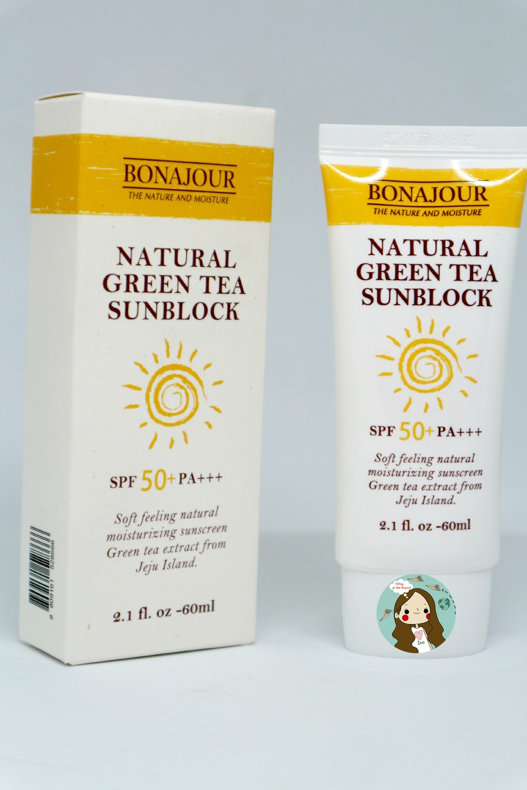 (REVIEW)  BONAJOUR Natural Green Tea Sun Block SPF50 PA+++