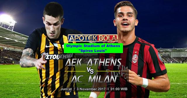 AEK Athens vs AC Milan 3 November 2017