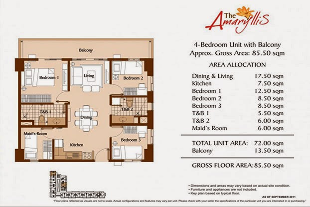 The Amaryllis 4 Bedroom - 85.50 sqm