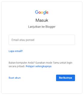 login blogger
