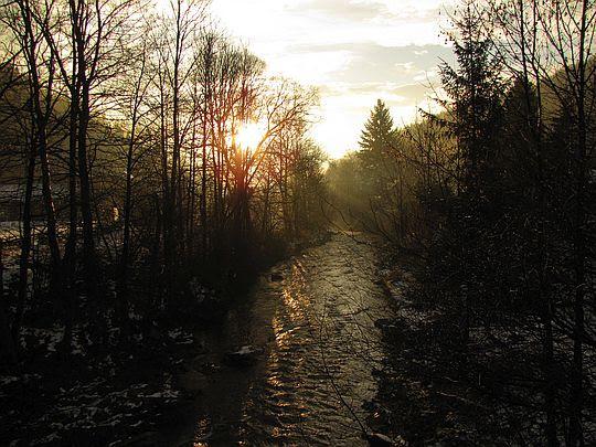 Rzeka Kamienica.