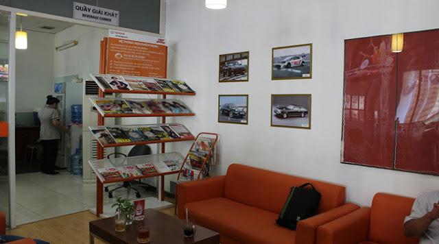 Phòng chờ xe của khách hàng khi đến làm dịch vụ tại Toyota An Thành