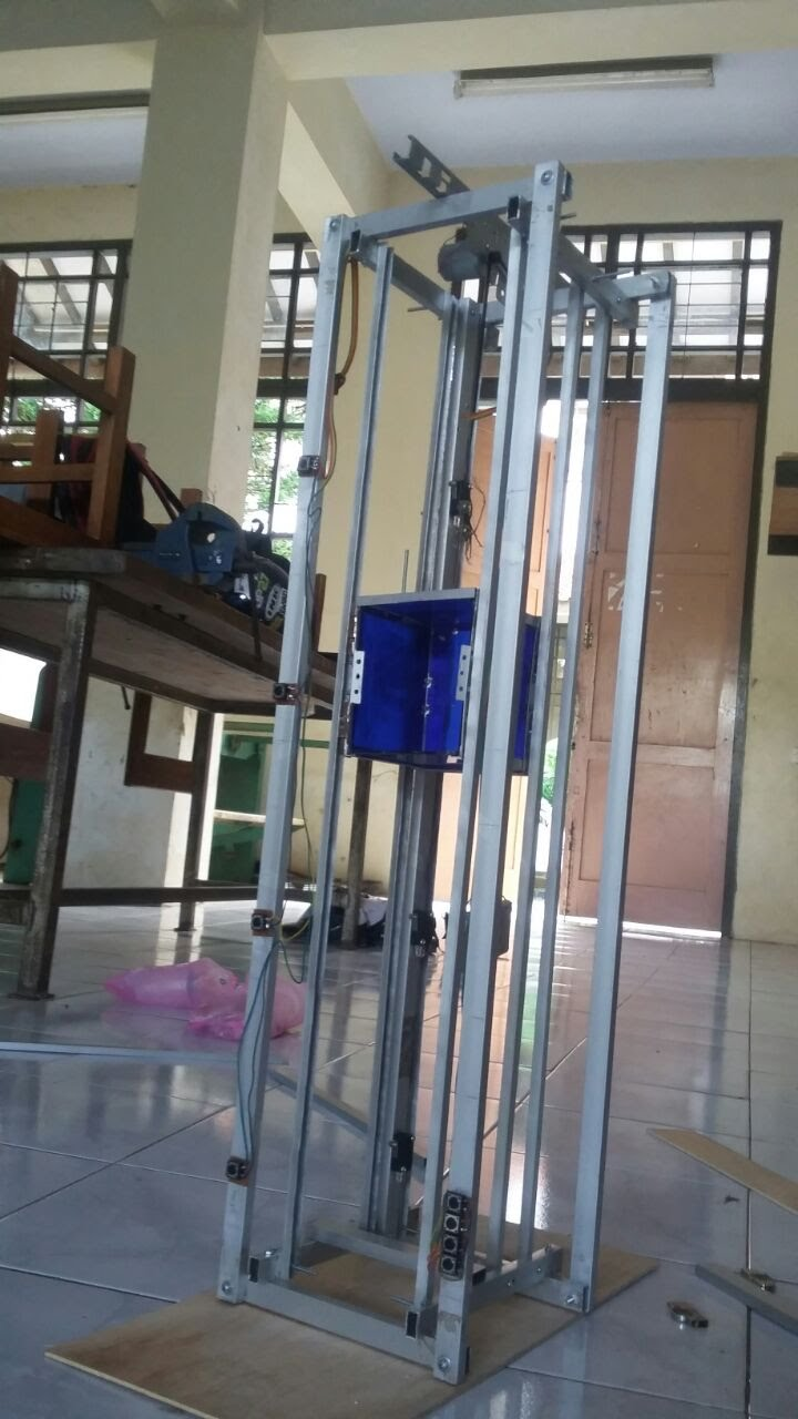 Miniatur Lift 4 Lantai Dengan 4 Tombol Call Dengan Arduino Uno