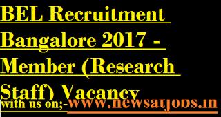 BEL-jobs-Bangalore-25-Member-(Research-Staff-Vacancy