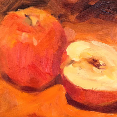 apples red oil painting