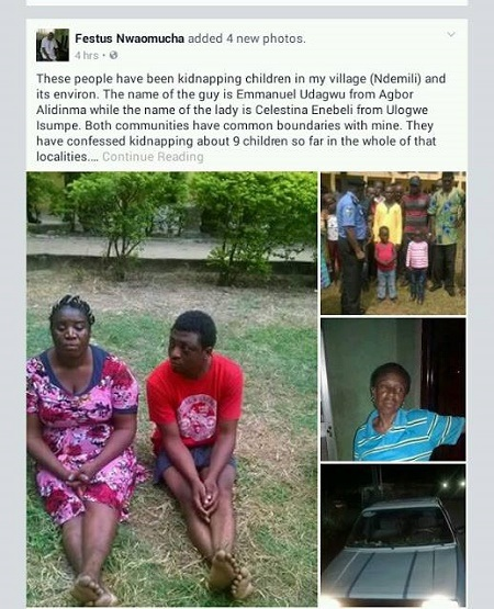 Unbelievable!!! Gang Who Specialize in Kidnapping Kids and Selling Them Off at N500k Each Caught in Delta (Photos)