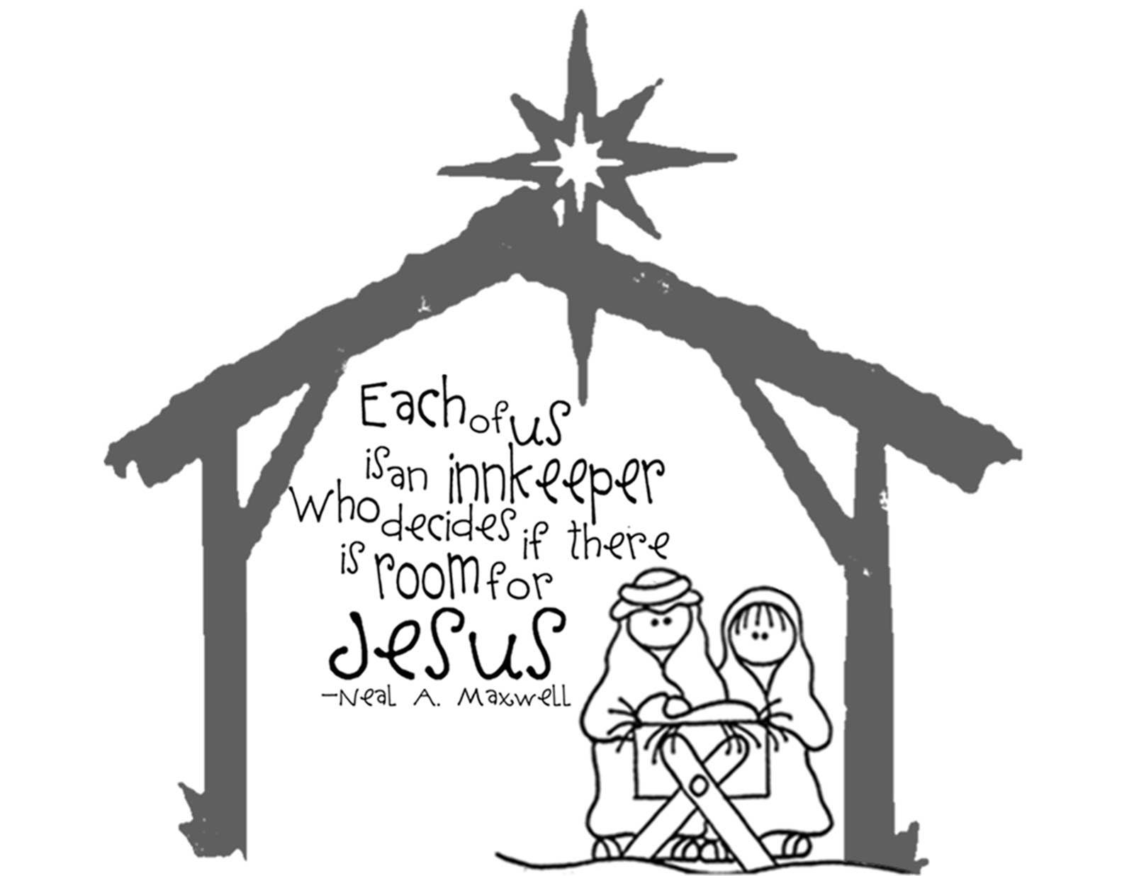 The Sew Er The Caker The Copycat Maker Nativity Handout