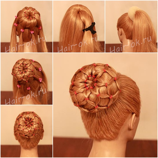Cute Bun Simple Tutorial Flower Bun Hairstyle Complete Tutorial