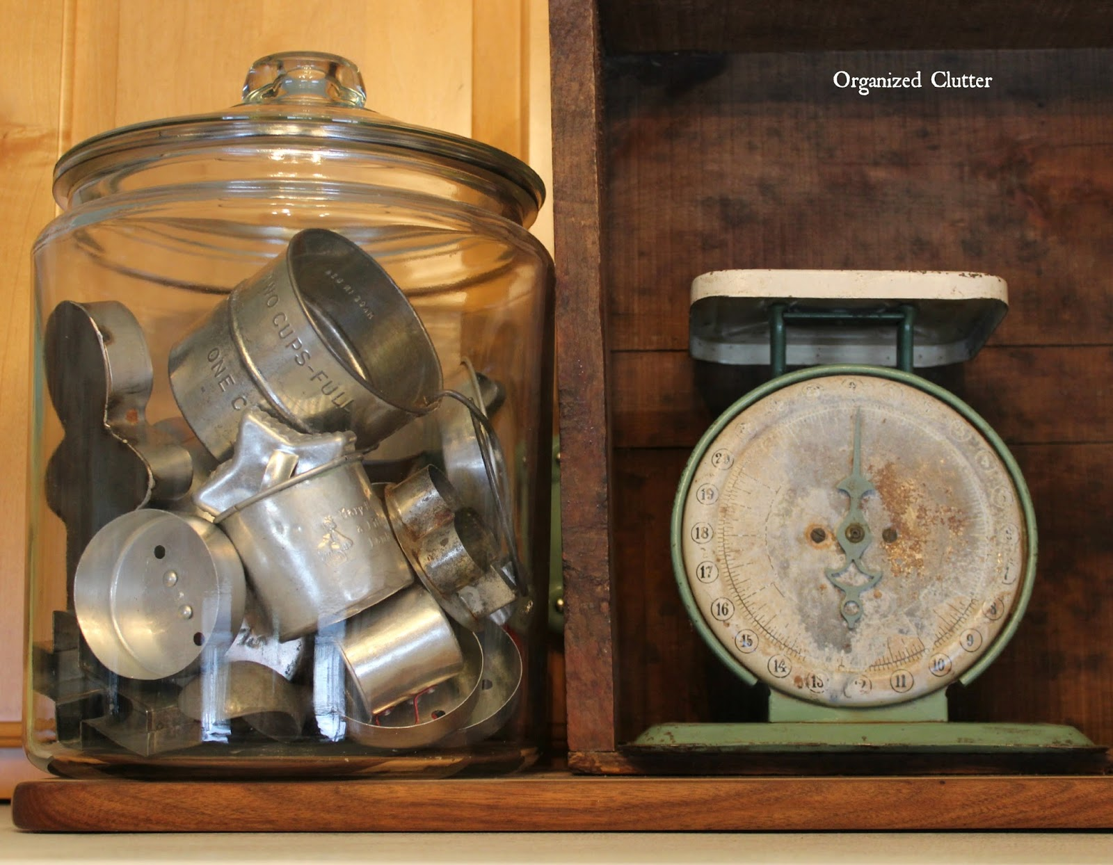 Tinware Displayed in Glass Canister